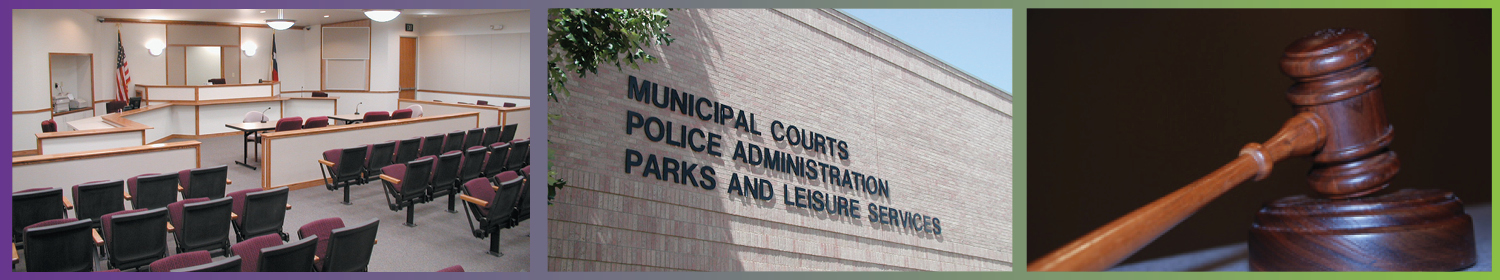 Municipal Court Department banner