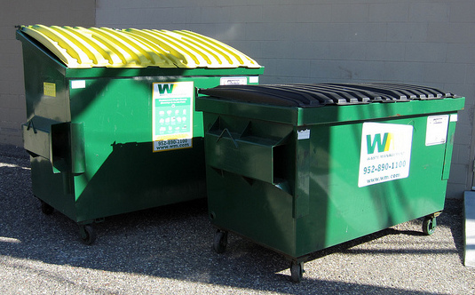 waste management paired dumpsters
